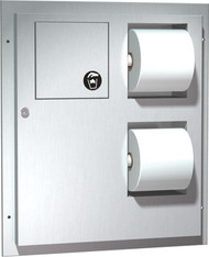 DUAL ACCESS TOILET TISSUE DISPENSER WITH NAPKIN DISPOSAL
