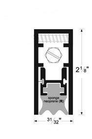 Semi-Mortise Automatic Door Bottom