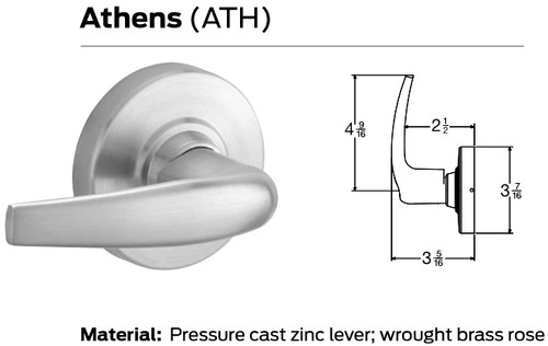 Schlage ND Series Electrically Grade 1 Cylindrical Locks - Athens