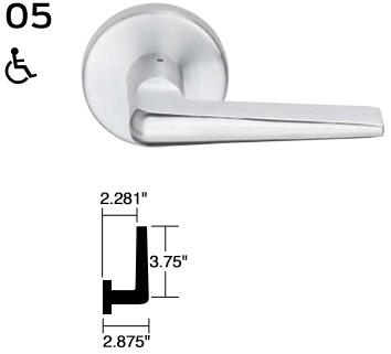 Schlage L0170 07A 626 L Series Single Dummy Brass Schlage Lock Company