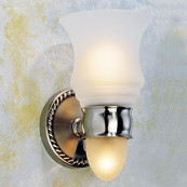 CANTERBURY Light W/ Etched Glass W/ Nightlight