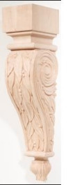 Hand Carved Corbels - Leaves - 198-00-100