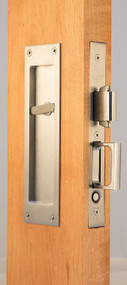 Accurate Pocket Door Privacy Lock and Pull with outside trim - 2002-CPDL x S2002T