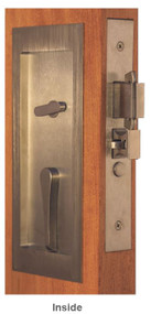 Accurate Self-Latching Sliding Pocket Door Privacy Lock - SL9139PDL