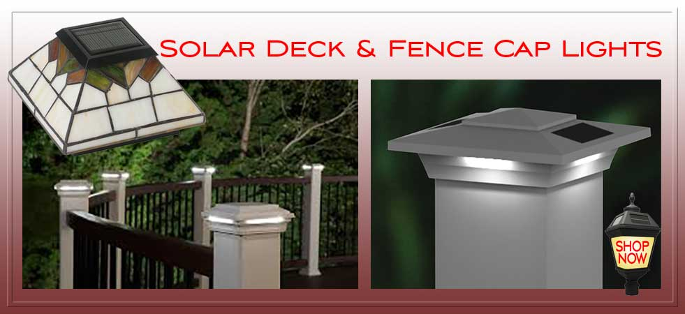 Solar Fence Post Cap Lights.