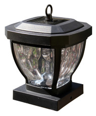 Solar Post Cap Lights with Solar Coach Lanterns for Wood Fence Posts.