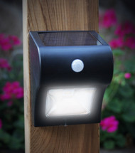 Solar Motion Detector Lights by Classy Caps with a Black Finish