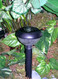 Solar walkway lights are easy to install using the included ground stake.