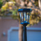 Victorian solar lamp post light has a classic 19th century lamp design.