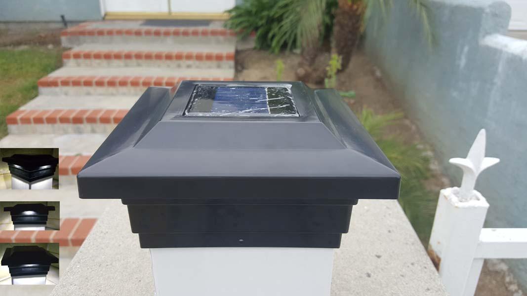 4 4x4 Solar Deck Post Cap Smd Led Lights Black Or Off White Wood Or Pvc Post Landscape Walkway Lights