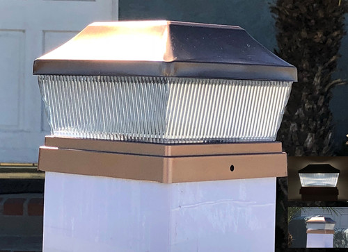 5x5 Solar Fence Post Lights are made for vinyl fence posts.