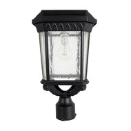 This Gama Sonic solar lamp post light is a mix of Colonial and Mission style design.