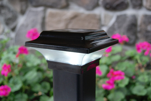 Our low profile solar fence post lights are made from powder coated cast aluminum for years of durability and use.
