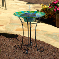 Smart Solar Birdbath Fountain is 24 Inches High with a 20 Inch Diameter.