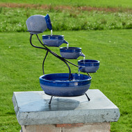 Cascading solar fountain is manufactured by Smart Solar, and made from Ceramic.
