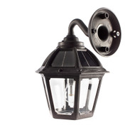Wall Mount Solar Carriage Lantern - Gama Sonic Black - Coastal Areas