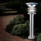 Solar bollard light is made from Stainless Steel in a round, sturdy post design, ideal for commercial sidewalks and parking lots.