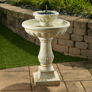 Solar Powered Garden Fountain with Battery Backup - Smart Solar