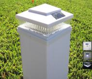5x5 White Solar Post Cap Lights Set of 2