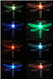 Look at all the amazing colors that you will see for hours every night from your color changing solar stake lights.