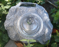 Solar Rock Spot Light Gray Finish with 3 Super Bright LED.