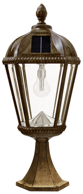 Solar Post Light for flat mount applications in Royal Weathered Bronze.