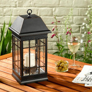 Solar Mission Lantern, 15 Inches with 2 Warm White and 1 Amber LED.