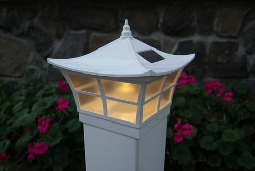 Solar Deck Post Caps White Ambience Fits 4 Quot And 5 Quot Fence