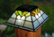 Stained Glass Solar Cap Lights by Classy Caps come in a set of 2.