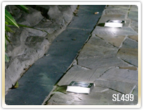 Solar path lights are low profile to install onto your concrete driveway or sidewalk.