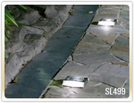 Solar path lights are low profile to install low to the ground, or by your steps.