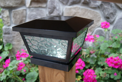 Solar Deck Post Lights will fit wood and vinyl fence posts.