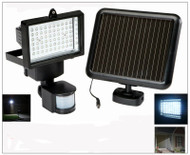 Solar Security Motion Detector with 60 White LED and Reflective Intensifier.