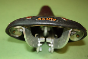 NOS Ideale TB 90 Leather Saddle: Alloy Rails, Saddle Clip, 1960's / 1970's