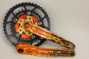 Kooka I-Beam Hellfire Camo Crankset & Chainrings: 175mm 44/32/24t