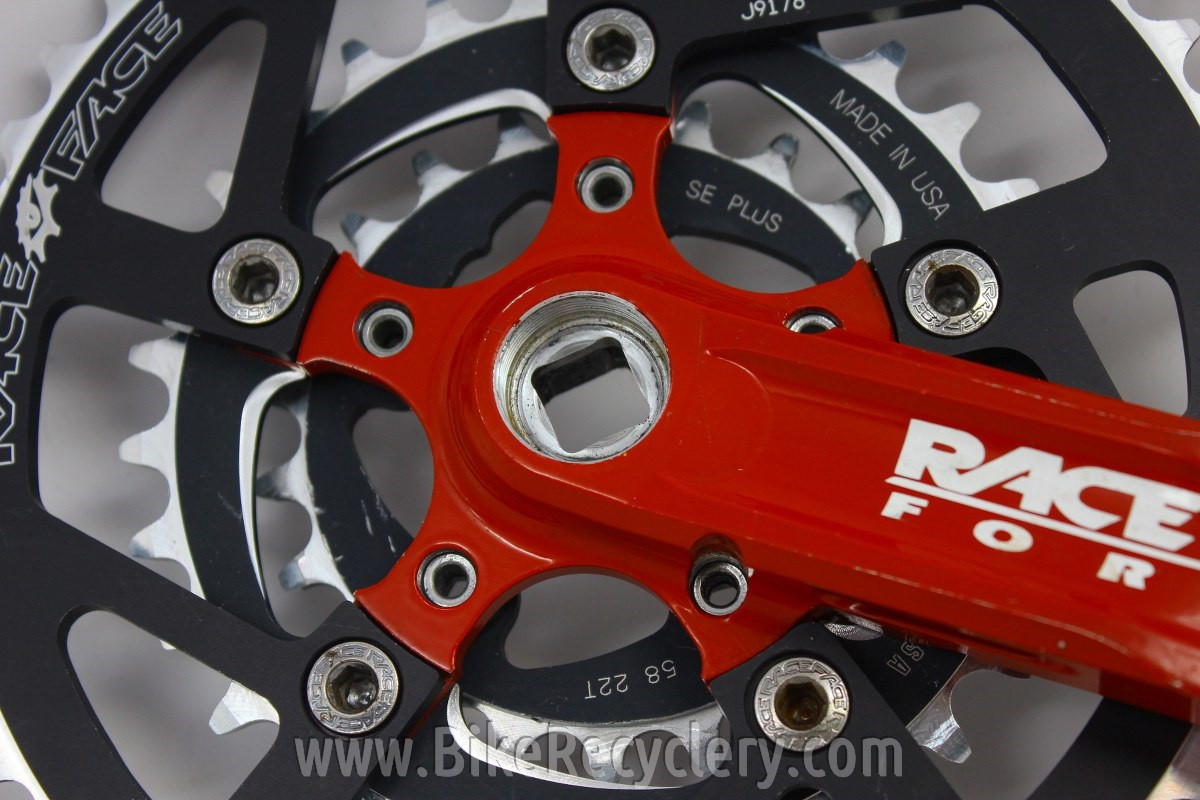 Race Face Turbine LP Crank Arms: Red! 94/58mm, 44/30/22t, 175mm, RF  Chainrings/Bolts