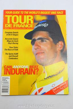 1993 Tour De France Guide Magazine: Miguel Indurain, Velo News