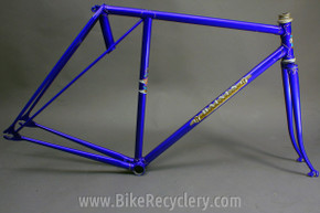 Baines Whirlwind Flying Gate International TT Frame / Fork: English 1930's 1940's Blue, 56cm