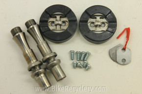 MR2 Racer Orb Titanium Pedals & NOS Cleats: <170g w/cleats! RARE!