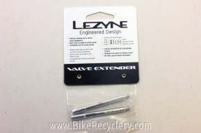 Lezyne Valve Extenders: 70mm Silver NEW (pair)