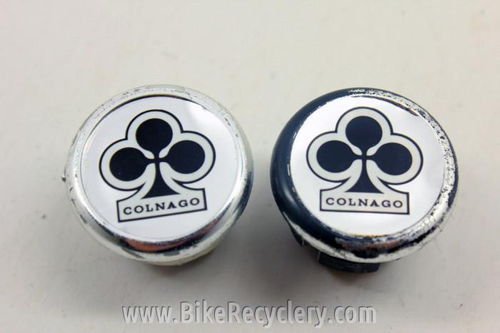 Vintage style Colnago gold back Handlebar End Plugs