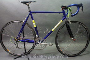2007 Independent Fabrication Crown Jewel Road Bike: 56cm / 57cm, FULL Campagnolo Record 10sp, KCNC, King, Blue-Green-Yellow
