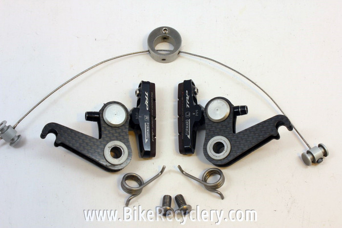Spooky Carbon / Titanium Cantilever Brake: Cyclocross <100g! TRP Adjustable  Pads Near Mint