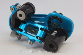 Retro Prototype Maching Joe's Rear Derailleur: CNC 1990's, Blue Anodized SUPER RARE! EXC