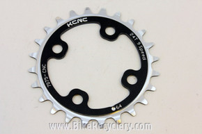 KCNC Standard Series MTB Chainring: 24t x 64mm BCD Black Silver NEW