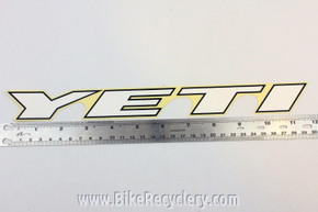 "Vintage YETI Downtube Decal: ~11.5"" x 1 1/4"""