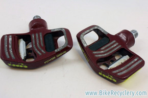 Vintage Diadora S.M. 180 Power Drive Clipless Pedals: Red
