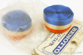 NOS/NIB Vintage Benotto Professional Cello Bar Tape: USA Flag Red-White-Blue