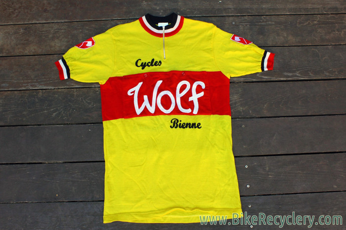 f67854139 NEW Cycles Wolf Bienne Team Short Sleeve Wool Jersey  1940 s Vintage ...