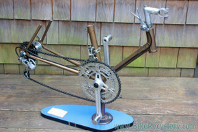 Vintage French Bicycle Drivetrain Display Art: 1970's - Stronglight TS - Simplex LJ  - Holiday  Gift - RARE!